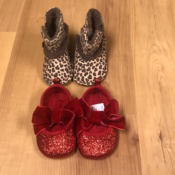Target Other - 2 pairs of 6-9 months shoes-Boots/Mary Janes